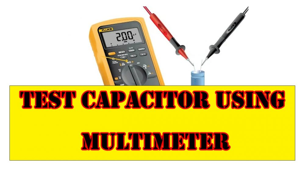 How To Test Capacitor Using multimeter-min